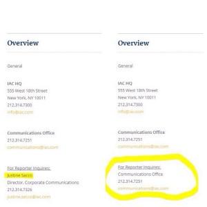 Justine Sacco steht nicht mehr auf der IAC Webseite